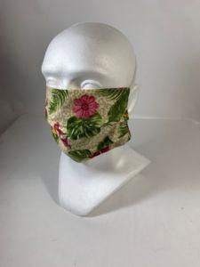 Bavlnené rúško kvety, gumička za hlavu, PoloTrade