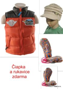 Detská vesta – Planes + čiapka a rukavice zdarma