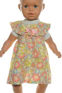 Detské šaty kvietkované s klobúčikom