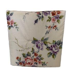 Jednostranný sedák biely-kvety, PoloTrade