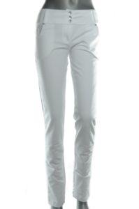 Nohavice dámske – biele 3 gombíky
