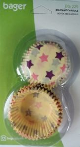 Papieriky na muffiny hviezdy 7,5cm