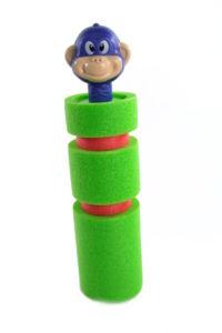 Vodná pištoľ 25cm opica modrá hlava