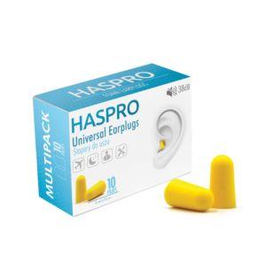 Haspro Multi špunty do uší žluté – 10 párů