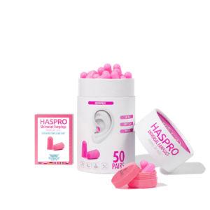 Haspro Multi špunty do uší růžové – 50 párů