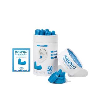 Haspro Multi špunty do uší modré – 50 párů