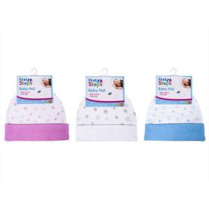 FS669 First Steps novorozenecká čepička, 3 barevné motivy