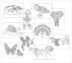 Sada antistresové obrázky 2 – 10 ks
