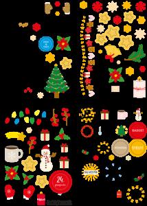 České samolepky Vánoční pohoda (4x A6)