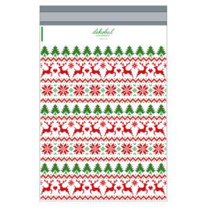 Designové plastové obálky s vánočním vzorem