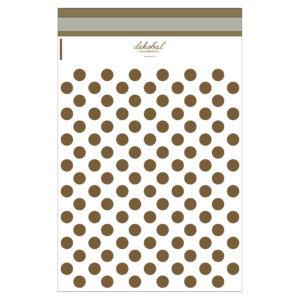 Bílé plastové obálky se zlatými puntíky