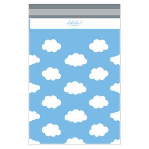 Modré plastové obálky s mráčky