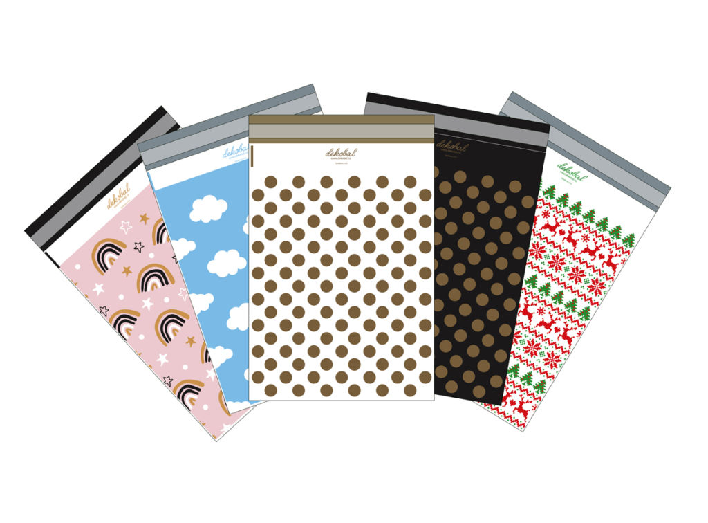 Designové plastové obálky mix