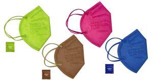 Stylové barevné respirátory proti virům FFP2 – 500ks