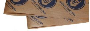 Potravinářský balící papír hnědý s potiskem 100kg (7000 archů)