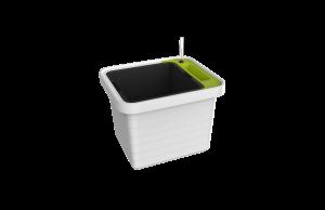 Velkoobjemový truhlík Berberis UNO, bílá + zelený příčník – ZACHRAŇ PRODUKT