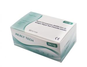 Hangzhou Realy Tech Novel Coronavirus (SARS-Cov-2) antigenní Rapid Test Cassette (swab) z nosohltanu (25 ks) – certifikováno MZ ČR