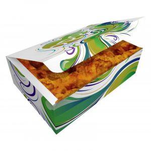 Papírová potravinová krabička 145x85x50mm s potiskem 2500ks