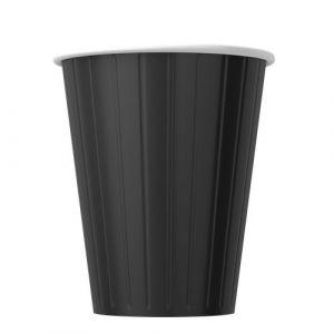 Papírové kelímky na kávu černé 350ml (12oz) 1000ks