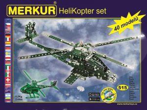 Merkur Helikopter Set, 515 dĂlĹŻ, 40 modelĹŻ