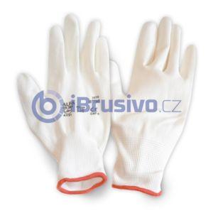 Pracovní rukavice bezešvé s PU dlaní bílé – likvidace skladových zásob