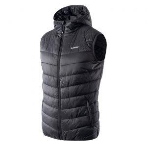 HI-TEC Solnis – pánská prošívaná vesta s kapucí