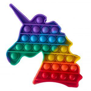 Pop It Rainbow antistresová hračka jednorožec