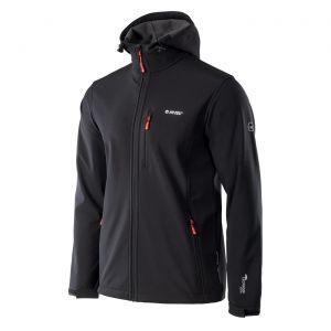 HI-TEC Caen – pánská softshellová bunda s kapucí