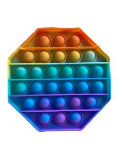 Pop It Rainbow antistresová hračka osmihran