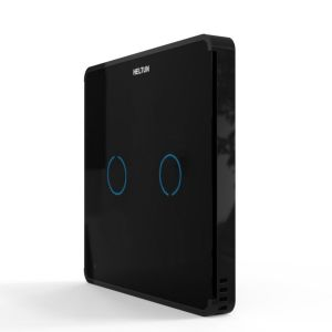 HELTUN Touch Panel Switch Duo (HE-TPS02-MKK), Z-Wave nástěnný vypínač 2 tlačítka, Černý