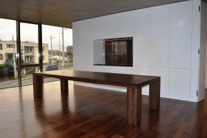 Jídelní ořechový stůl Artemis rozměr 76x100x200cm